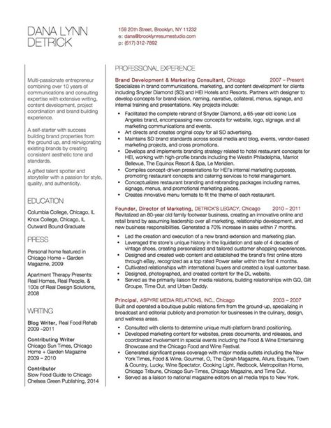 marketing consultant content developer resume brooklyn