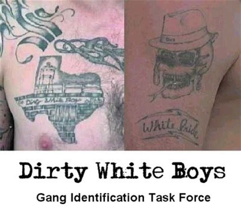 peckerwood tattoo white prison gangs white boys