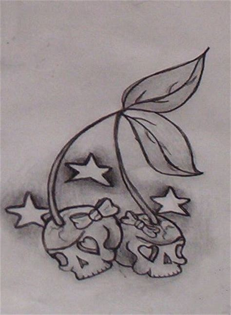 cherry skull tattoo designs skull cherry flash by sailormouthsarah on deviantart