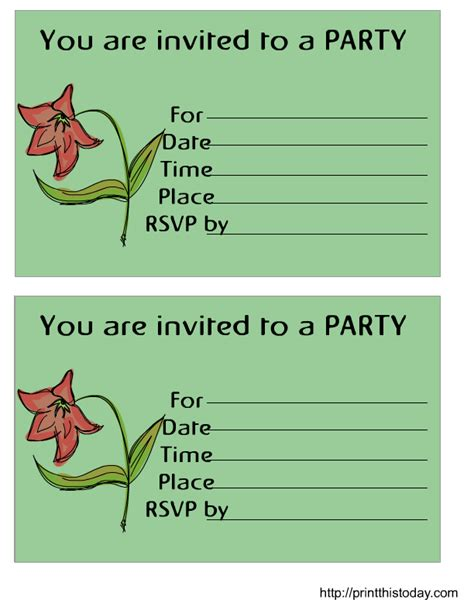 free invitations templates printable free printable birthday invitation
