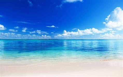wallpaper of blue sea blue cloud sea wallpaper responsive