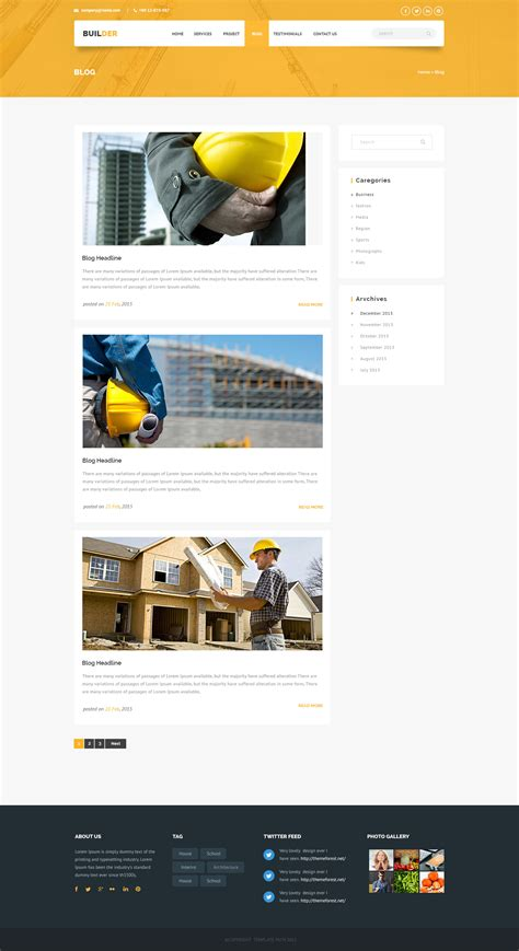 Builder Construction And Builder Html Template By Template Path Themeforest Html Template Builder