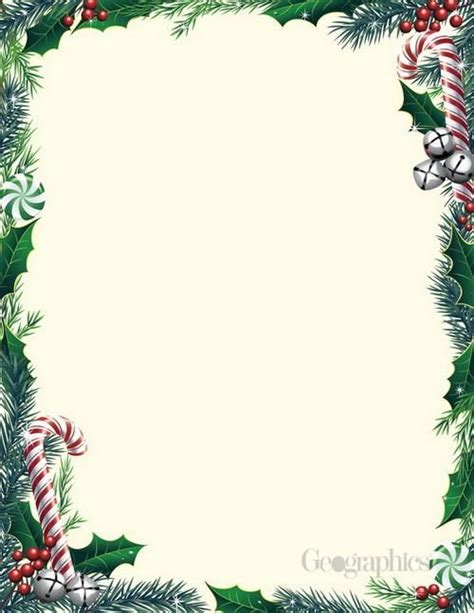 christmas stationery downloads bells amp ivy christmas letterhead 8 5 quot x11 quot 80 pk