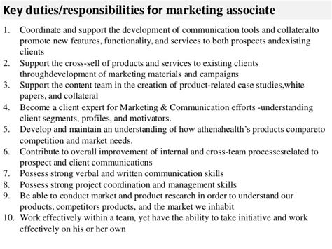 marketing associate description