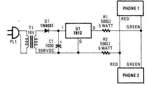 telephone circuit diagram basic telephone circuit diagram wiring diagram