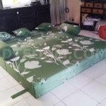 Kasur Busa Inoac Murah Ukuran 200x180x20 sofa bed inoac bunga tulip hijau bagus empuk murah