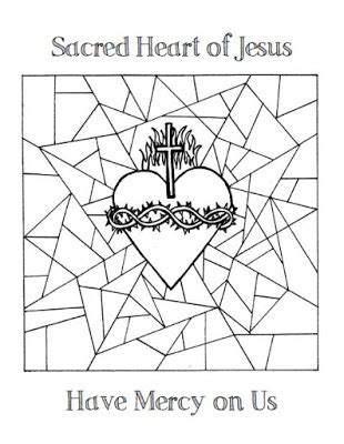 sacred heart coloring page look to him and be radiant sacred heart of jesus coloring