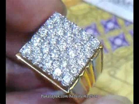 Cincin Fashion Berlian Eropa 0 71ct Ring Emas Putih 305 Berlian Eropa Gugur 20 Ring Emas Kuning