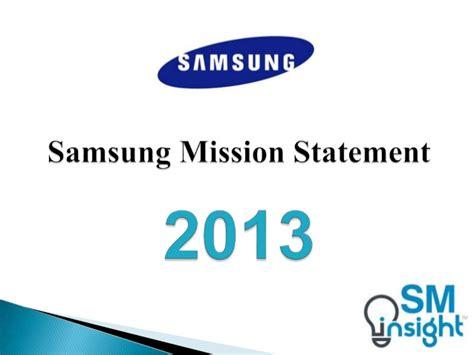 mission statement of samsung company samsung mission statement