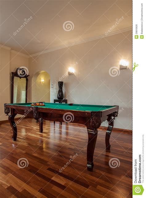 cloudy room cloudy home billiard in living room royalty free stock image image 29810626