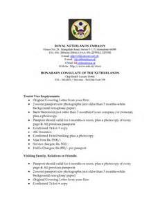 Sponsorship Letter For Netherlands Visa Visa Sponsorship Letter