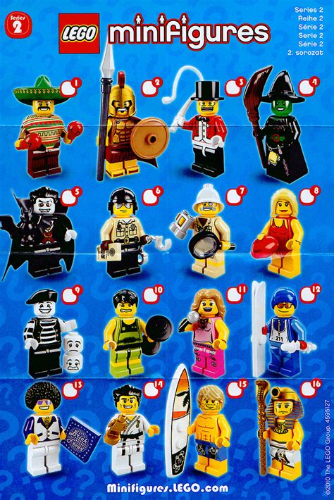 jual lego minifigures series 2 1 set 16pcs sealed