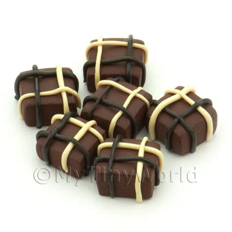 Handcrafted Chocolates - chocolate dolls house miniature mytinyworld