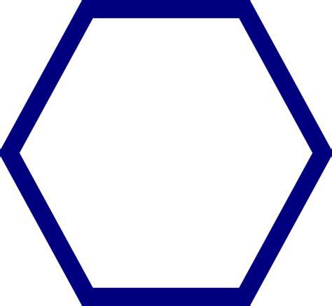 Hexagon Shape - blue hexagon clip at clker vector clip