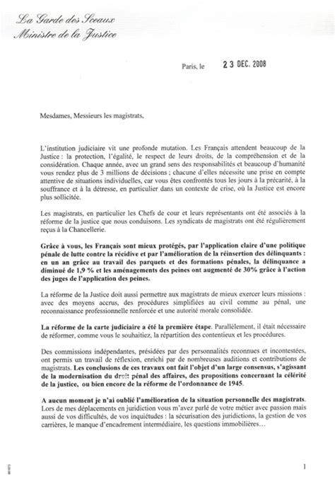 Demande De Partenariat Lettre Justice Presse Lettre De Rachida Dati Aux Magistrats
