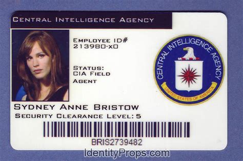 cia id card template cia central intelligence agency sydney bristol id car