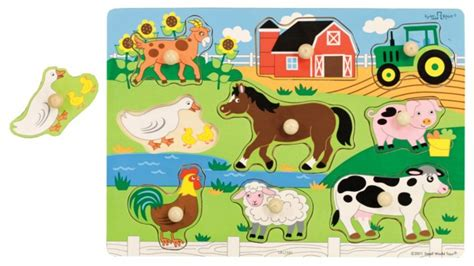 Spesial Knob Puzzle Zoo Animals farm puzzle wooden knob puzzles categories