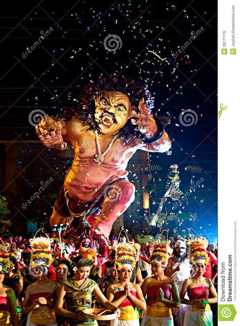 balinese  year editorial photo image