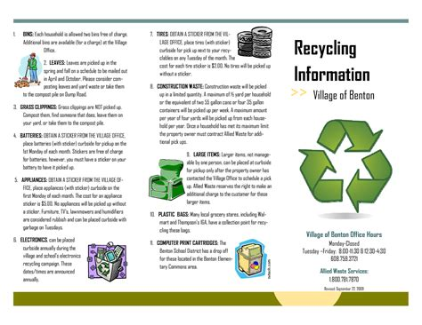 7 best images of recycling brochure template free tri