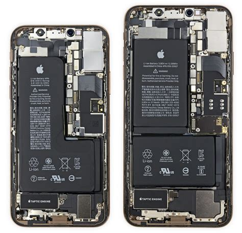 ifixit iphone xs  notched battery  iphone xs max