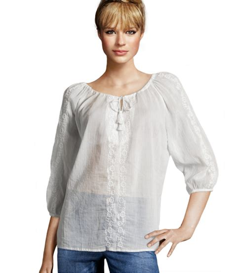 Blouse H M H M Blouse In White Lyst