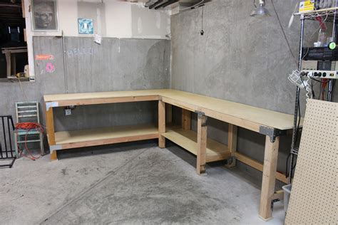 how to build a garage bench diy custom garage workbench renocompare