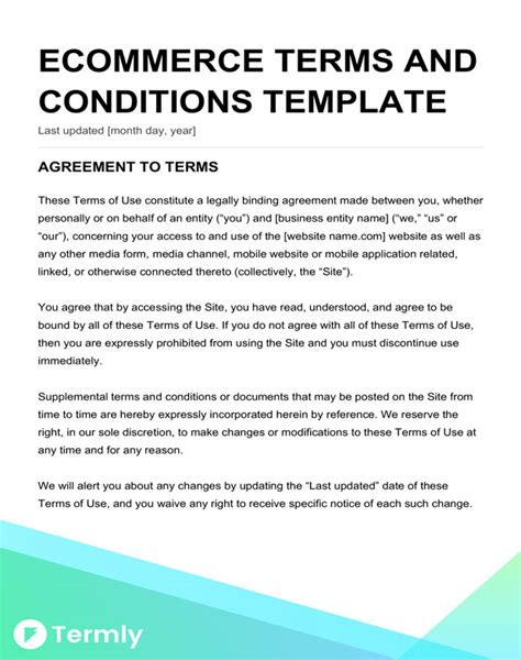 terms and conditions template free terms conditions templates downloadable sles