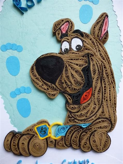 quilling animals tutorial pap 237 rvil 225 g quilled scooby doo quilling scooby doo