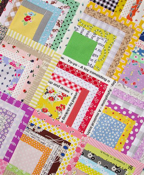 Quarter Quilting by Scrappy Quarter Log Cabin Quilt And Tutorial Pepper