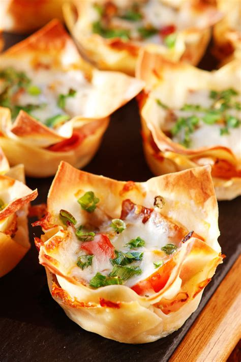 spicy italian ham cheese cups kevin amanda food - Italian Appetizers For Dinner