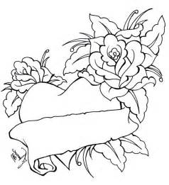 coloring pages of roses and hearts heart bow coloring pages coloring pages of roses and