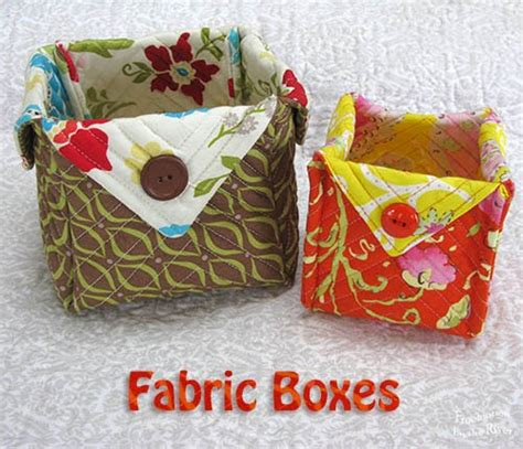 Pattern Fabric Boxes | freemotion by the river fabric boxes