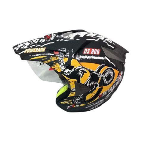 Helm Jpx Supermoto jual jpx supermoto helm half black doff harga kualitas terjamin