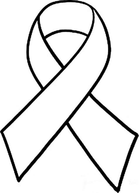 cancer ribbon coloring page az coloring pages