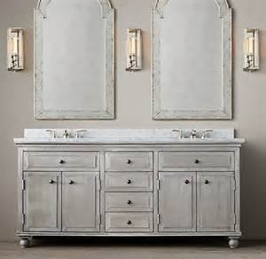 Vanities Restoration Hardware Light Zinc Vanity Sink