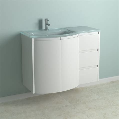 Curved Bathroom Vanity Cabinet by B Q Cooke Lewis High Gloss White Curved Vanity Cabinet