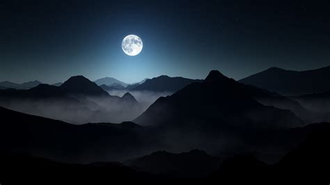 wallpaper the dark hd full moon dark mountains wallpapers hd wallpapers id