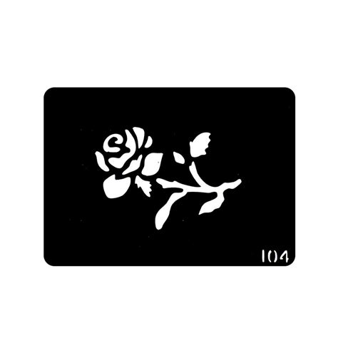 one piece rose flower henna tattoo stencils stencil