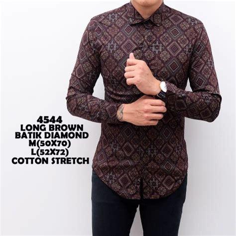 Baju Lebaran Kemeja Batik Cowok Tosca Kemeja Kantor Baju Atasan jual kemeja batik songket pria panjang kantor kerja slimfit baju cowok murah cek harga di