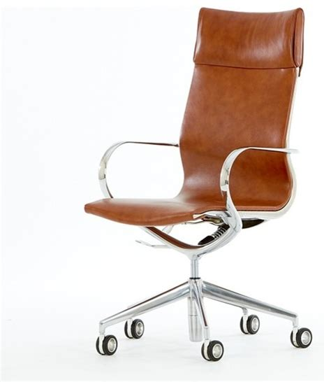 Modern Leather Desk Chair Mercury High Back Leather Office Chair Modern Office Chairs By Bluesuntree