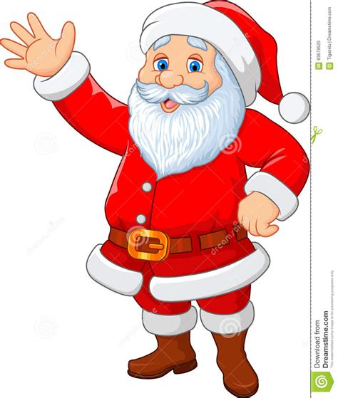 anmated waving snata santa waving isolated on white background stock vector image 63679520