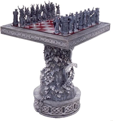chess table set up arthurian chess table stand board chess set complete