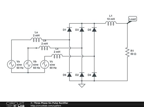 circuit diagram 3 phase bridge rectifier wiring diagram