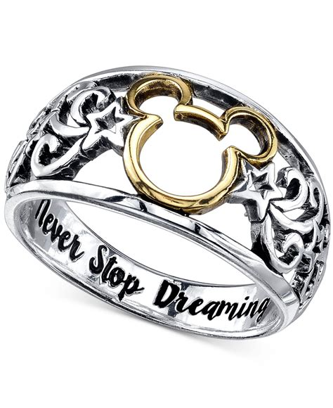 14k Gold Plated Mouse lyst disney open work mickey mouse ring in sterling