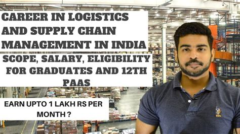 Mba In Logistics Scope by Careers In Logistics And Supply Chain Management In India