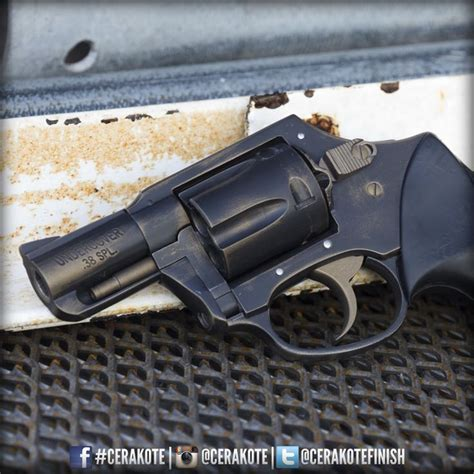 pattern energy revolver cerakote distressed look using graphite black and burnt
