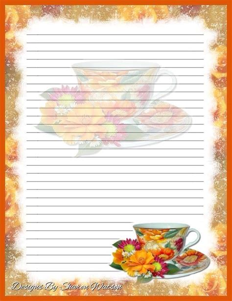 printable recipe stationery 302 best stationery borders for adults images on pinterest