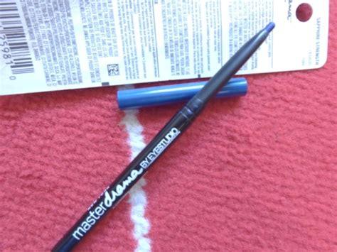 Pencil Eyeliner Just Miss Blue maybelline eye studio pencil eyeliner sapphire strength review