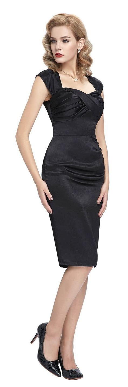 Cyntia Dress cynthia vintage black satin dress 1950sglam