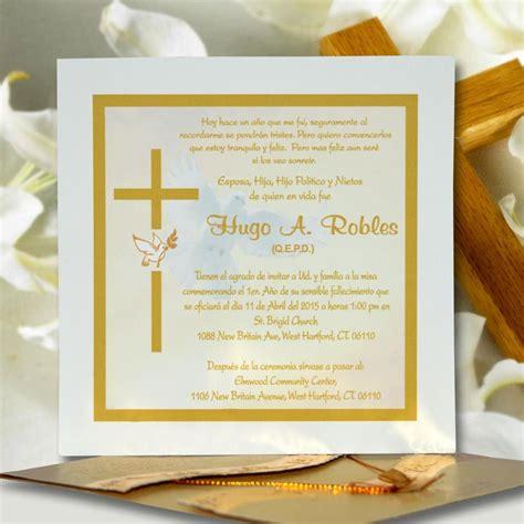 diseos de tarjetas para invitacin de misa de difuntos invitaci 243 n para misa de honras hr 56850 angels graphic